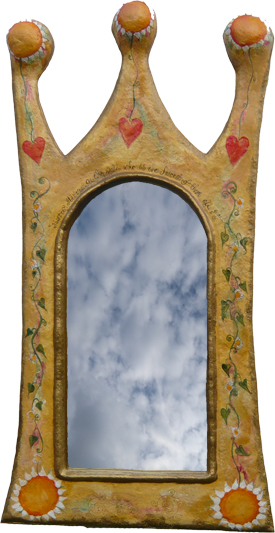 image of handcrafted mirror by Sarah Howarth