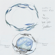image of Design drawing - Shoal mirror by Sarah Howarth