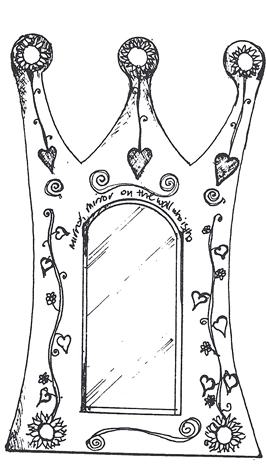 image of line drawing  of mirror  by Sarah Howarth